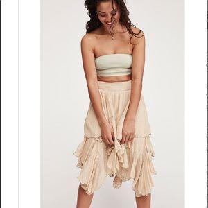 Free people handkerchief ruffle skirt